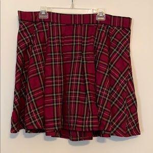 Torrid plaid skirt